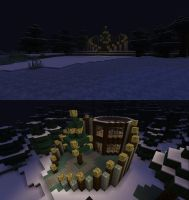Minecraft: Wintermoon House by WearManyHats