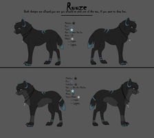 Ruuze Refsheet NEW by Rijaal