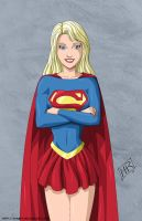 Supergirl posing 5-commission by mhunt