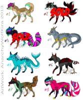 Adoptables for Sale! Points OR PayPal by AnarchyWolfKira