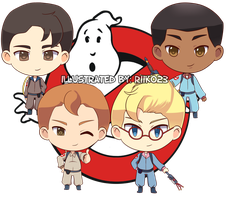 Commission: The Real Ghostbusters Chibi by riiko23