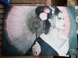 Geisha _painted with acryl_ by Sira123
