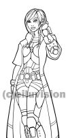 Sotori Black and White Line Art (Vector) by Eiluvision