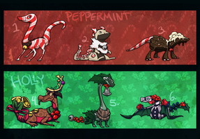 Peppermint Holly Adoptables OPEN by Stormful