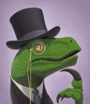 Fancy Philosoraptor by thazumi
