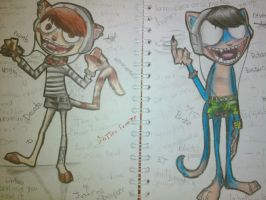 Gorillaz Cats  XD by Ari-Cat1998