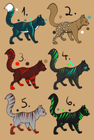 Cat Adoptables 4 by AdoptableSky