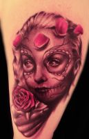 Day of Dead Tattoo by hatefulss