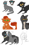 warrior catsss by Sleepy-Scales
