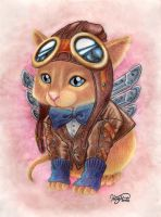 Steampunk Kitty by Ireness-Art