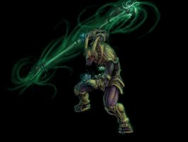 Nasus from League of Legends by Vespertellino
