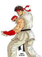 ryu colored by Sk8rock69
