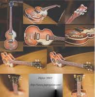 Papercraft Hofner 500/1 by ThanhDDanh