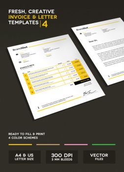 Invoice and Letter Templates IV by onlycreativeworks