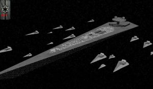 Imperial 307th Legion's Fleet by RadicalEdward2