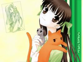 Wallpaper Fruits Basket by Aerin35