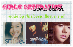 SNSD Icon batch by thislovewillneverend