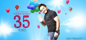 Tamer Hosny's Birthday (cover) by MohamedZidanART