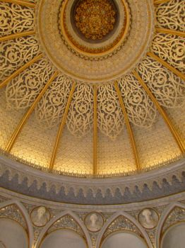 Monserrate Palace interior music room ceiling by Boias