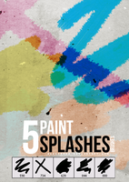 5 paint splashes brushes by Discopada
