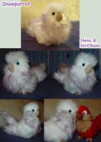 Snowparrot plushie by Nenu