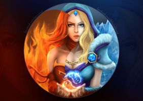 Dota2- Lina and Crystal Maiden by Zerox-II