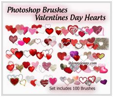 Heart Photoshop Brushes for Valentines Day by ibjennyjenny