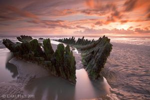 Berrow Beach Wreck II by cuffbertt