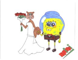 SpongeBob's Wedding Colour'd by Squindi