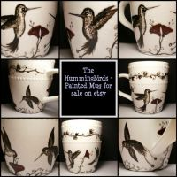 The Hummingbirds mug by InkyDreamz