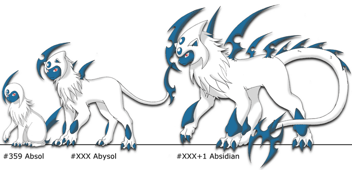 Fakemon:  Absol Evolutions by Felisfurtificus