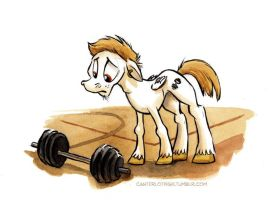 Canterlot High - The Wrestler by sophiecabra
