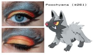 Pokemakeup 261 Poochyena by nazzara