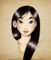 Mulan Portrait Color by MoonchildinTheSky