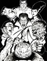 Universal Monsters by Ryanovision