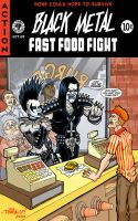 Black Metal Fast Food Fight by paigey