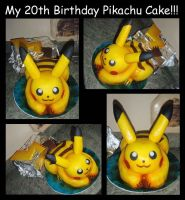 My 20th Birthday Pikachu Cake by PokemonMasta
