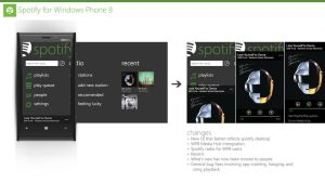Spotify for WP8 (Redesign) by Ohsneezeme