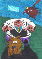 The Kingpin vs Angry beavers by MichaelMorales