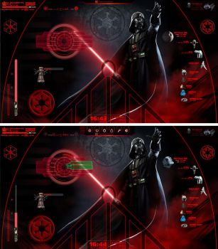 Darth Vader v1 - Rainmeter by MinotaurosK