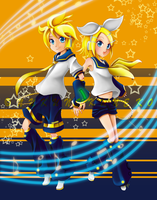 Vocaloid-Twins by nukunukuneko