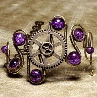 Steampunk Bracelet Gear 2 by CatherinetteRings