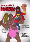 Miss Marvel and Toxie: New Jersey's Protectors by Selecthumor