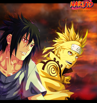 Naruto and Sasuke by Blazing-Wizard