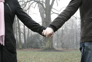 Holding Hands by AvaBaude