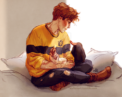 Newt and Niffler by Natello
