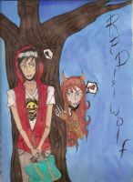 Red and  the wolf by mitsukiuzumaki