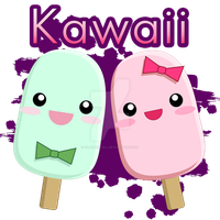 Kawaii popsicles by CL-Pinkskull