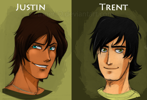 TDI: Justin and Trent sketches by Inner-D