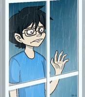 EB:Stare out window scornfully by limecakey